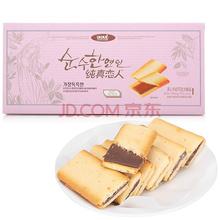 纯真恋人夹心牛奶巧克力饼干108g(新老包装随机发货)