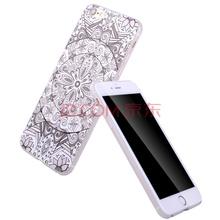 ESCASE 手机壳苹果iPhone 6S 超薄全包3D浮雕外壳 新款保护套/软壳 汉廷白玉