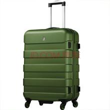 爱华仕(OIWAS) 拉杆箱6130U 万向轮拉杆箱ABS PC拉杆行李箱 男女登机休闲旅行箱 20英寸军绿色