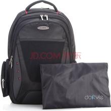 dostyle LC303男女商务时尚旅行背包笔记本电脑双肩书包15.6英寸深邃黑【带防雨罩】
