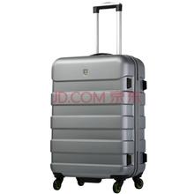 爱华仕(OIWAS) 拉杆箱6130U 万向轮拉杆箱ABS PC拉杆行李箱 男女登机休闲旅行箱 20英寸银灰色