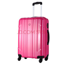 爱华仕(OIWAS) 拉杆箱 6075 万向轮ABS PC 拉杆行李箱 时尚休闲登机旅行箱 20英寸玫红色