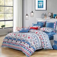 水星家纺(MERCURY)全棉磨毛活性印花四件套 醇美格调 加大双人1.8米床