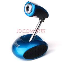 蓝色妖姬(BLUELOVER)摄像头电脑台式机高清网络视频内置麦克风 S11机器人 天使蓝