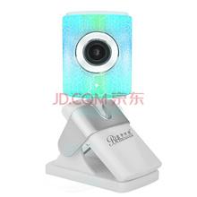蓝色妖姬(BLUELOVER)摄像头电脑台式机高清网络视频内置麦克风 A561 白