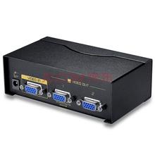 胜为(shengwei)VS-5002 高清VGA分配器 铁壳2口 配原装线 500MHZ 视频分屏器 电视电脑1拖2分频器