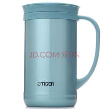 虎牌Tiger保温杯 不锈钢水杯办公杯子 双层真空杯保温茶杯(带滤网)CWM-A050-AM高光银蓝500ml