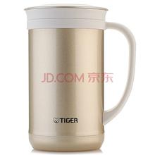 虎牌Tiger保温杯 办公保温茶杯咖啡杯 不锈钢水杯子真空杯(带滤网)CWM-A050-NN金灰色500ml