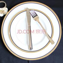 迪奥百合 凯特 骨瓷西餐盘刀叉4件套