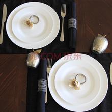 迪奥百合 骨瓷经典款西餐套盘圆盘双人餐 8件套