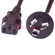 山泽(SAMZHE)DY-01 电脑主机国标电源线 品字尾三孔电源连接线 适用电脑主机显示器电饭煲 直插1.8米