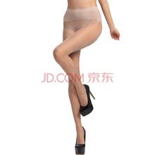 皮尔卡丹丝袜3双1D高弹无缝苹果臀透明冰蚕丝面膜薄款女连裤袜子亚洲肤色均码PC38065-807×3