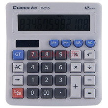 齐心(COMIX)C-215 12位电脑按键光电双驱动计算器/计算机 灰色