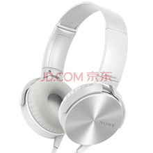 索尼(SONY)MDR-XB450AP 重低音 立体声耳机 白色