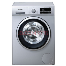 西门子(SIEMENS) XQG90-WM12P2C81W 9公斤 变频 滚筒洗衣机 LED显示 触摸控制 低噪音 除菌(银色)