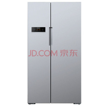 西门子(SIEMENS)BCD-610W(KA92NV60TI) 610升 风冷无霜 对开门冰箱 LED显示 速冷速冻(银色)