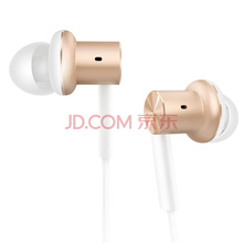 小米圈鐵耳機金色 入耳式有線線控男女生音樂運動通用耳麥