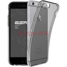 亿色(ESR) iPhone6/6s手机壳/保护套 4.7英寸苹果6/6S手机套 硅胶透明防摔软壳 本色系列 啫喱黑