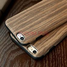 洛克ROCK 苹果iPhone 6Plus/6s Plus防摔手机壳 木纹元素系列 手机全包保护套 紫檀