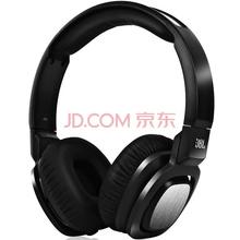 JBL J55 强悍低音单元 DJ摇滚 防缠绕 闭合式头戴音乐耳机 黑色