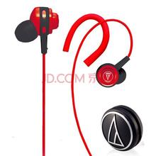 铁三角(Audio-technica) ATH-COR150 RD 入耳式音乐耳机 耳挂式运动耳机 红色