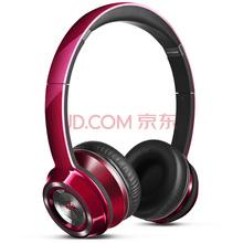 魔声(Monster)Ntune 灵动  头戴式线控耳机 便携带耳麦通话手机耳机 超重低音隔音降噪电脑耳机 糖果红