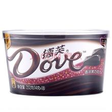德芙Dove克香浓黑巧克力糖果巧力 252g  碗装(新年装随机发售)