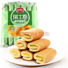 盼盼 瑞士卷 香蕉味卷式夹心蛋糕 240g(内装12枚)