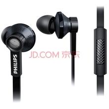 飞利浦(PHILIPS)耳机 耳麦 入耳式 手机通话 音乐 TX1(黑)