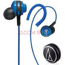 铁三角(Audio-technica) ATH-COR150 BL 入耳式音乐耳机 耳挂式运动耳机 蓝色
