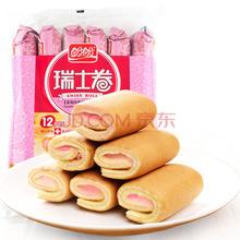 盼盼 瑞士卷 草莓味卷式夹心蛋糕 240g(内装12枚)