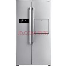 美的(Midea) BCD-515WKM(E)515升 对开门冰箱 风冷无霜 创意吧台 纤薄设计 电脑控温 流光银