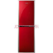 奥马(Homa) BCD-186F 186升 一级节能 大冷冻双门冰箱(银红双色)