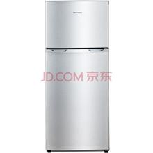 创维(Skyworth)BCD-118 118升双门冰箱 金属拉丝面板 冷藏冷冻 家用经济型小冰箱(炫银)
