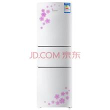 容声(Ronshen)BCD-202M/Q 202升 三门冰箱 光电保鲜 家用一级节能(花之韵)