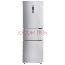 美的(Midea)BCD-215TZM(E) 215升 智能操控 中门多档调温 电脑控温三门冰箱 闪白银