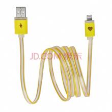 圣迪威 苹果7 USB 星光数据线 电源线适用iphone7/6S/6/PLUS/ ipad4/5/air mini2/3 黄色