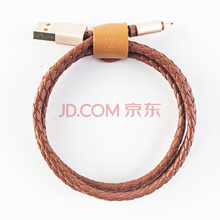 亿觅(emie) 皮咖系列苹果数据/充电线 适用于苹果iphone7/6/6s/Plus/iPad 棕色