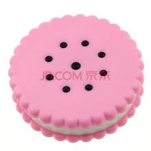 马洛里 隐形眼镜盒伴侣盒双联盒美瞳盒护理盒 饼干形 粉色