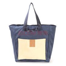 四万公里 旅游收纳包 便携式大容量单手提包折叠挎包 旅行单肩包 电脑杂物包包衣物整理袋 SW1013 藏青色