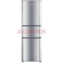 容声(Ronshen)BCD-202M/TX6 202升 三门冰箱 家用一级节能 门封保护 自感应温度补偿(拉丝银)