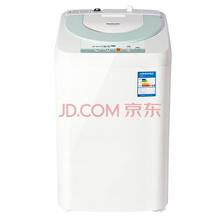 松下(Panasonic)XQB28-P200W 2.8公斤全自动波轮洗衣机 不锈钢内筒 小巧方便灵活(白色)