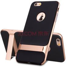 洛克ROCK 莱斯支架防摔手机壳 iPhone6/6s保护套 适用于苹果6/6s硅胶套 香槟金