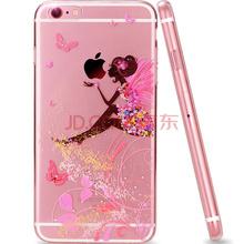 派滋 苹果iPhone6s Plus/6PLUS手机壳 彩绘卡通抗摔外壳水钻花仙子5.5英寸