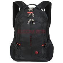 SVVISSGEM双肩包 耐磨款商务休闲双肩笔记本电脑背包14.6英寸 男女学生书包 SA-9393III黑色