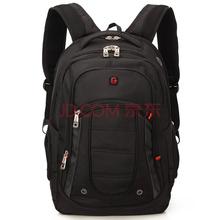 SVVISSGEM双肩包 商务休闲笔记本电脑包背包15.6英寸 学生书包 SA-9360III 黑色