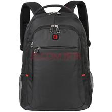SVVISSGEM双肩包 标准型护脊学生书包 14.6英寸商务双肩电脑背包登山包 SA-7719III黑色