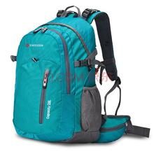 SVVISSGEM登山包 防水户外双肩包男女笔记本电脑包书包28L JP-3128II宝石绿色(配防雨罩 )