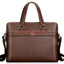 七匹狼(SEPTWOLVES)男士公文包 商务斜跨笔记本电脑包单肩横款男包休闲包手提包 L11041484-02啡色