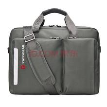 SWISSGEAR单肩包斜挎包 时尚休闲手提斜挎多用笔记本电脑包14.6英寸 男女商务手提包公文包 SA-5015灰色